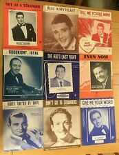 Original Vintage Sheets Music (Some Rare) David Hughes, Frankie Laine + More