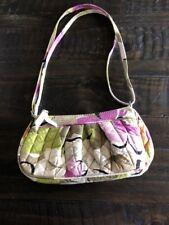 Vera Bradley Floral Green and Purple Crossover Tote Handbag