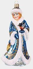 Russian Snow Maiden Snegurochka Polish Blown Glass Christmas Ornament Decoration