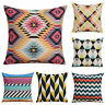 Colorful Geometry Cotton Linen Pillow Case Car Waist Cushion Cover Home Decor