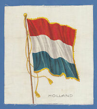 SILK - AMERICAN TOBACCO CO. -  NATIONAL  FLAGS  CARD  -  HOLLAND  -  1910