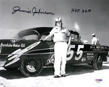 JUNIOR JOHNSON SIGNED AUTOGRAPHED 8x10 PHOTO + HOF 2010 NASCAR LEGEND PSA/DNA