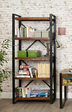 Urban Chic Furniture Reclaimed Wood Tall Large Bookcase Steel Frame