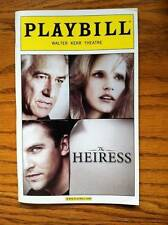 Playbill The Heiress  Jessica Chastain  Dan Stevens David Strathairn Judith Ivey
