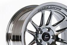 Cosmis XT206R 18x9.5 +10 5x114.3 Black Chrome (Pair, 2 Wheels Only)