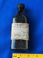 Antique Pharmacy Apothecary Plainville, Indiana Medicine Bottle Paper Label VTG