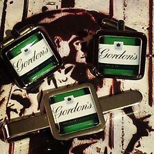 Unique GORDON'S GIN CUFFLINKS & TIECLIP SET g&t GIN and TONIC tiebar tieslide
