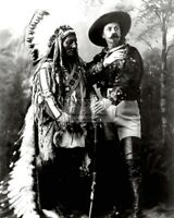 "SITTING BULL AND ""BUFFALO BILL"" CODY IN 1885 - 8X10 PHOTO (DA-703)"