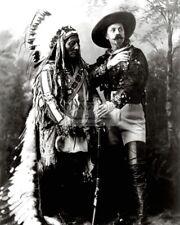 """SITTING BULL AND """"BUFFALO BILL"""" CODY IN 1885 - 8X10 PHOTO (DA-703)"""