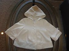 *Old Navy* sz S 4-5 yrs cream swing 3/4 bell sleeves hoodie sweatshirt girls EC