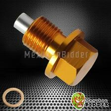 Gold M14X1.5mm Magnetic oil drain plug Bolt Acura/Honda/Dodge/Ford /Mitsubishi