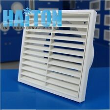 1X200mm Spigot Ducting White Wall Extractor Fan Ventilation Fixed Louvre Grille
