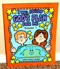 I WILL FOLLOW GOD'S PLAN FOR ME Volume 1 by Karen Finch 2004 1STED LDS MORMON PB