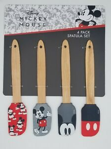 Disney Mickey Mouse 4-Pack Mini Spatula Set  Kitchen Bake Cook NWT