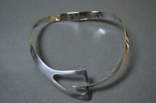 Sterling Silver Collar Mid Century Modern 103 grams necklace Taxco Mexico