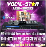 Vocal-Star VS-600 CDG HDMI Karaoke Machine Bluetooth 2 Microphones 150 Songs