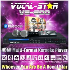 Vocal-Star VS-600 CDG HDMI Karaoke Machine Bluetooth 2 Microphones 150 Songs
