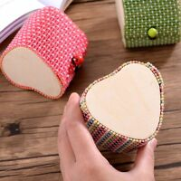 Cute Heart Shape Bamboo Jewelry Box Storage Case Ring/Necklace/Earrings Display