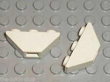 2x LEGO White slope brick 2341 / set 8286 6958 6351 6336 6430 6418 6598 ...