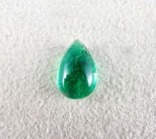4.79 CTS NATURAL ZAMBIAN EMERALD PEAR SHAPE GEMSTONE FOR RING PENDANT