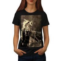 Wellcoda Horse Kiss Nature Womens T-shirt, Funny Casual Design Printed Tee