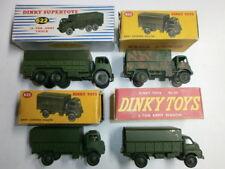 Liasse 4 anciennes DINKY TOYS metallguss militaire véhicules camion 621 622 623 neuf dans sa boîte