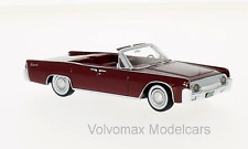 wonderful modelcar LINCOLN CONTINENTAL 53A CONVERTIBLE 1963   - darkred - 1/43