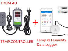 INBIRD Temperature Controller + Bluetooth Temp Humidity Data Logger Recorder