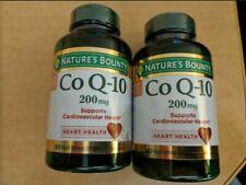 Nature's Bounty 2x Genuine CoQ-10 200mg 160 Softgels total