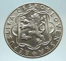 1954 CZECHOSLOVAKIA Slovak Uprising Antique Genuine Silver 100 Korun Coin i76786
