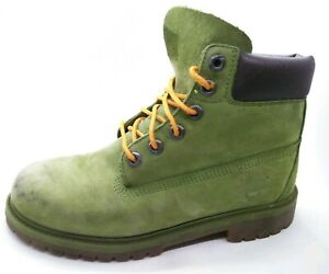 Timberland 6IN Waterproof Boot Unisex Mid Green Kids TB0A1MNE Size 4.5 Boys