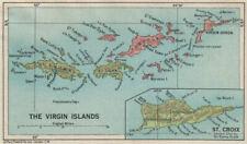 BRITISH/US VIRGIN ISLANDS Tortola Virgin Gorda St Croix St Thomas/John 1927 map