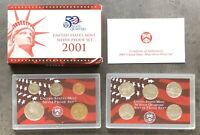 USA 2001 SILBER Proof Set San Francisco PP polierte Platte State Quarter 1c-$1
