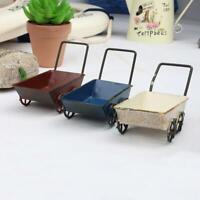 Mini Metall Trolleys Carts Miniatur Fairy Garden DIY Handwerk Kunst Wohnkultur