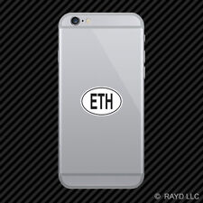 ETH Ethiopia Country Code Oval Cell Phone Sticker Mobile Ethiopian euro