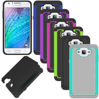 Slim Hybrid Hard Armor Case Shockproof Rubber Cover For Samsung Galaxy J7 2015