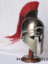 Medieval Hollywood Costume Armor Roman Greek Corinthian Helmet with Wood Stand