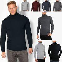 KRISP Herren Männer Rollkragen Pullover Pulli Sweater Hoher Kragen Warm Weich