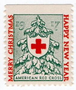 (I.B) US Cinderella : Red Cross Christmas Seal (1917)