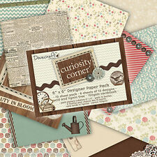 """6"""" X Paquete Completo 6"""" 72 tarjeta de esquina de hoja curiosidad haciendo Artesanía Papel De Scrapbook"""