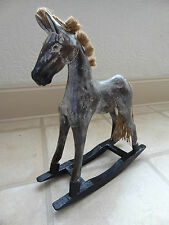 WOODEN ROCKING HORSE, Francese Shabby Chic-BELLISSIMO REGALO, Alta 37 cm