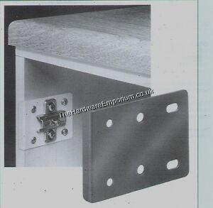 2 x Hinge Repair Plate Kitchen Unit Cupboard Door White Cream Zinc Brown
