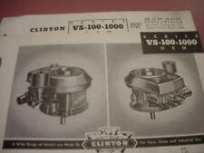 clinton parts list,clinton vs-100-1000 illustrated antique clinton engine