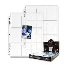 100 Clear Protective Baseball Trading Card Album Pages 9 POCKET Slot Protectors