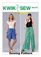 Kwik Sew K4178 Kwik Start Learn to Sew PATTERN Misses Shorts & Pants Sizes XS-XL