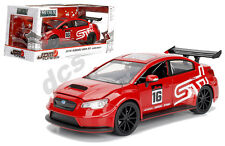JADA  JDM TUNER IMPORT SUBARU WRX STi WIDE BODY RED 1/24 DIECAST CAR 99091