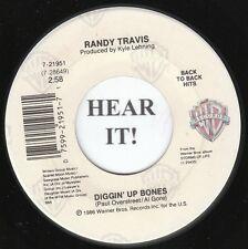 Randy Travis 80s C & W 45 (WB 21951) Diggin' Up Bones/No Place Like Home