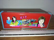 VINTAGE RARE - 80'S KIT KNIGHT RIDER DOUBLE PENCIL CASE - GREECE - NEW