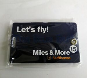 "Lufthansa  15 Jahre Miles & More Kofferanhänger ""Let's fly!"""
