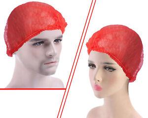 Ulith Klipphauben rot Ø52cm Einweghaube Vlieshaube Baretthaube Einweg-Haarnetz
